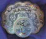 Custom made Belt Buckles by silversmith Vernon Lynes